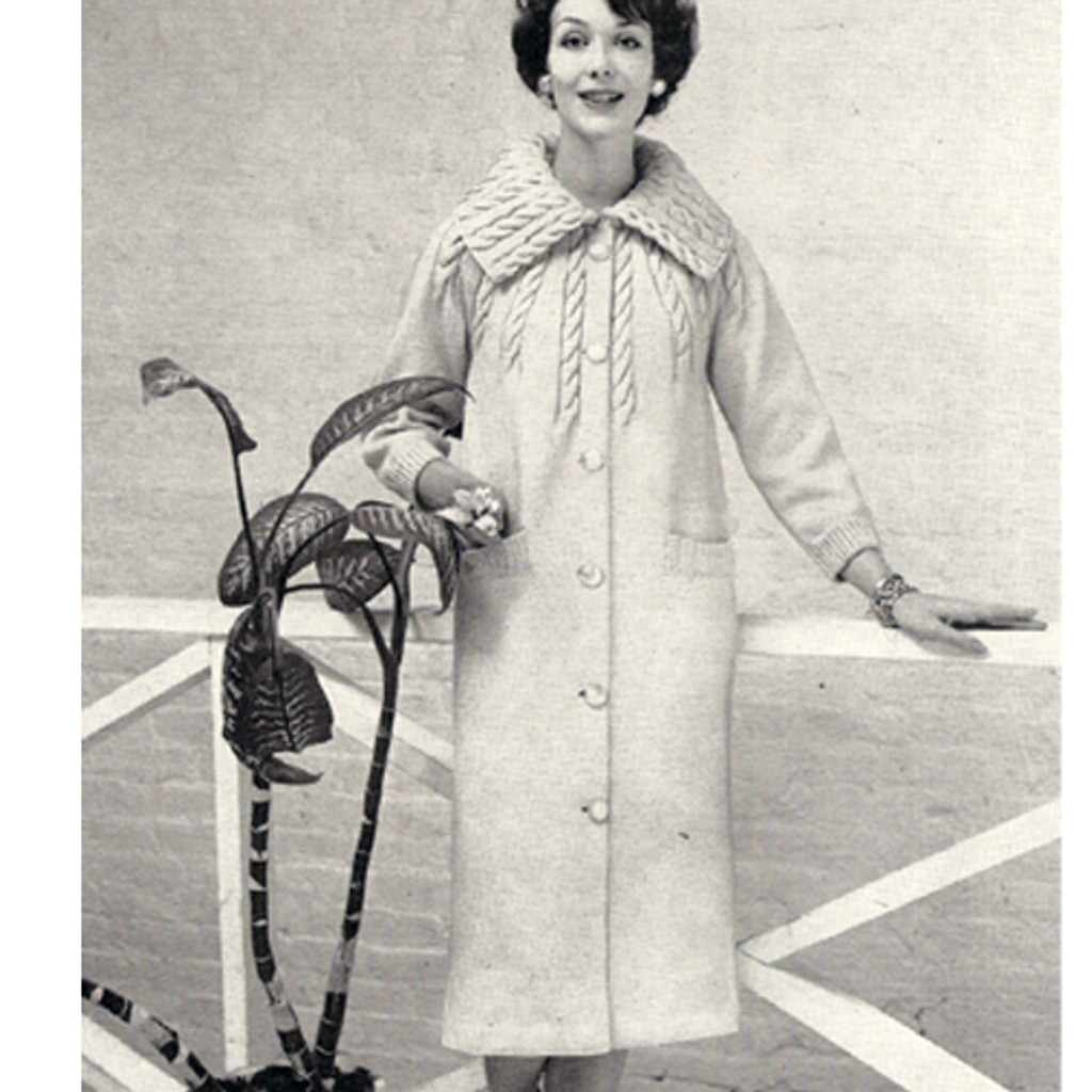 Long Tucked Coat Knitting pattern