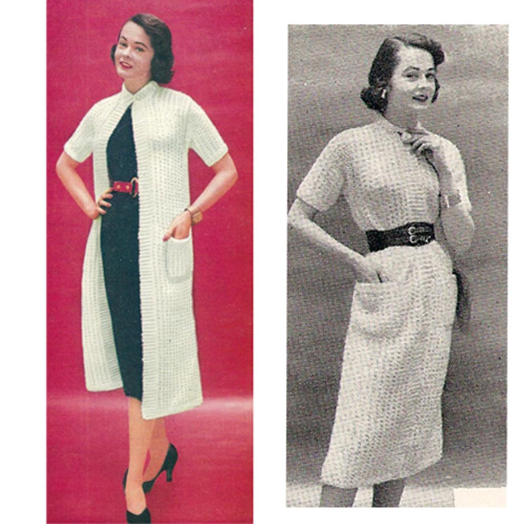 Short Sleeve Dress and Coat Knitting Pattern