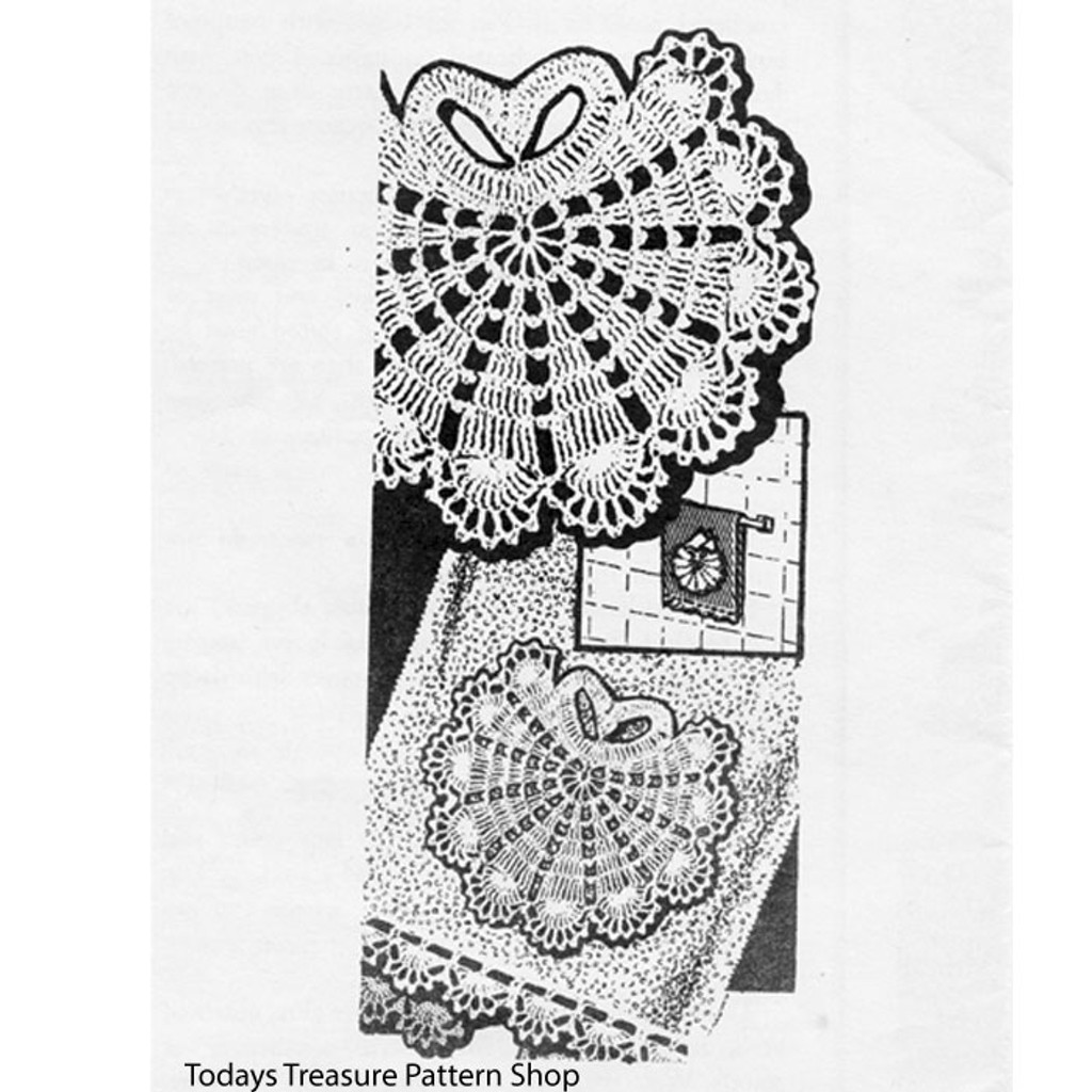 Crochet Shell Doily Medallion Pattern No 3081