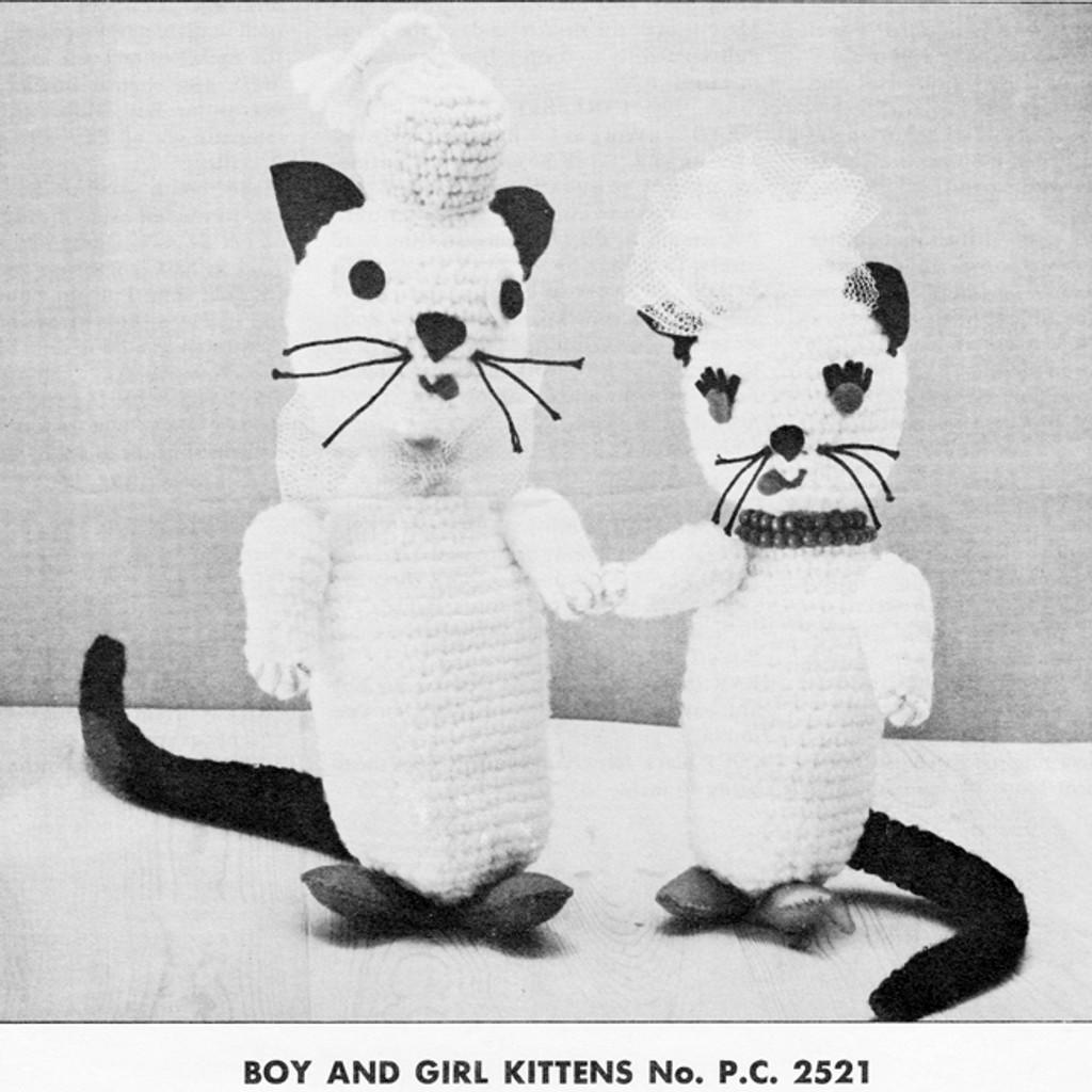 Vintage Crochet Cats Pattern
