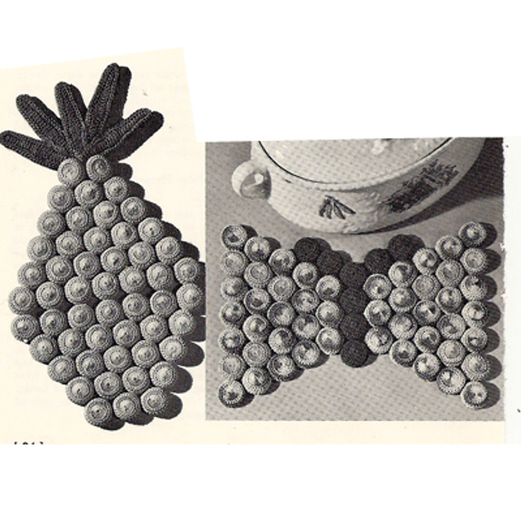 Bottle Cap Crochet Covers for Pineapple and Butterfly