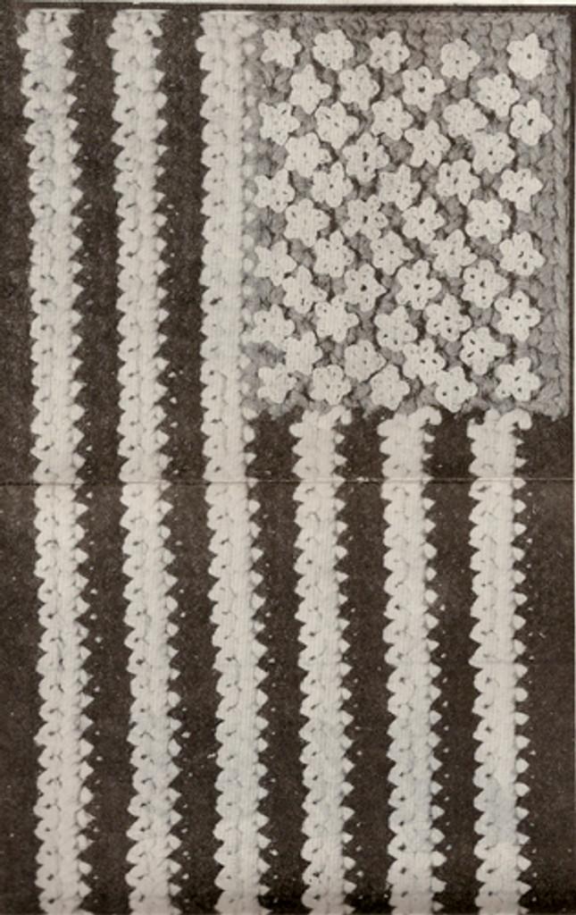 Illustration of crocheted US Flag