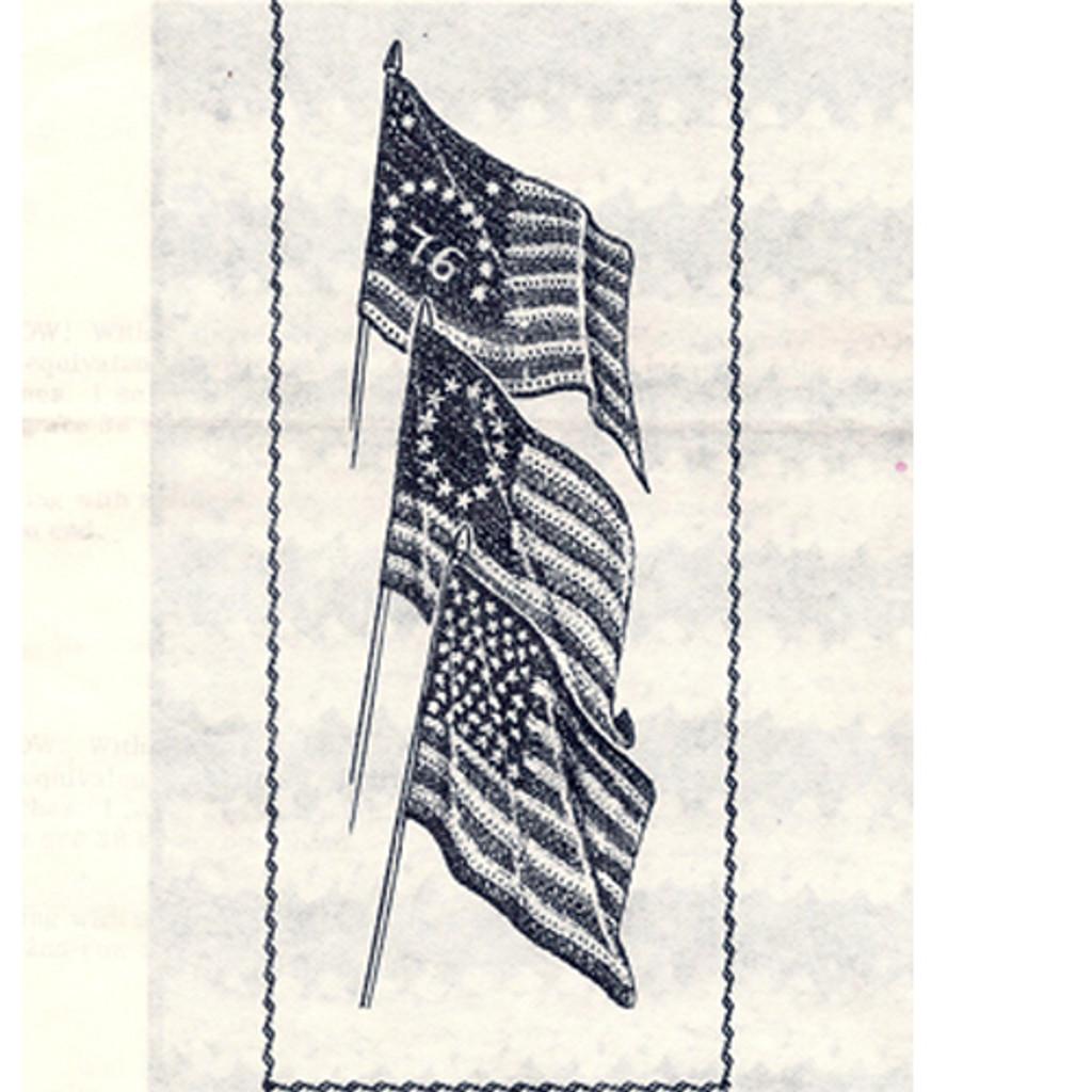 Vintage Crochet Pattern American Flags