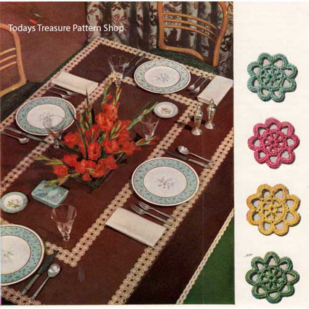 Crocheted Medallion Tablecloth pattern