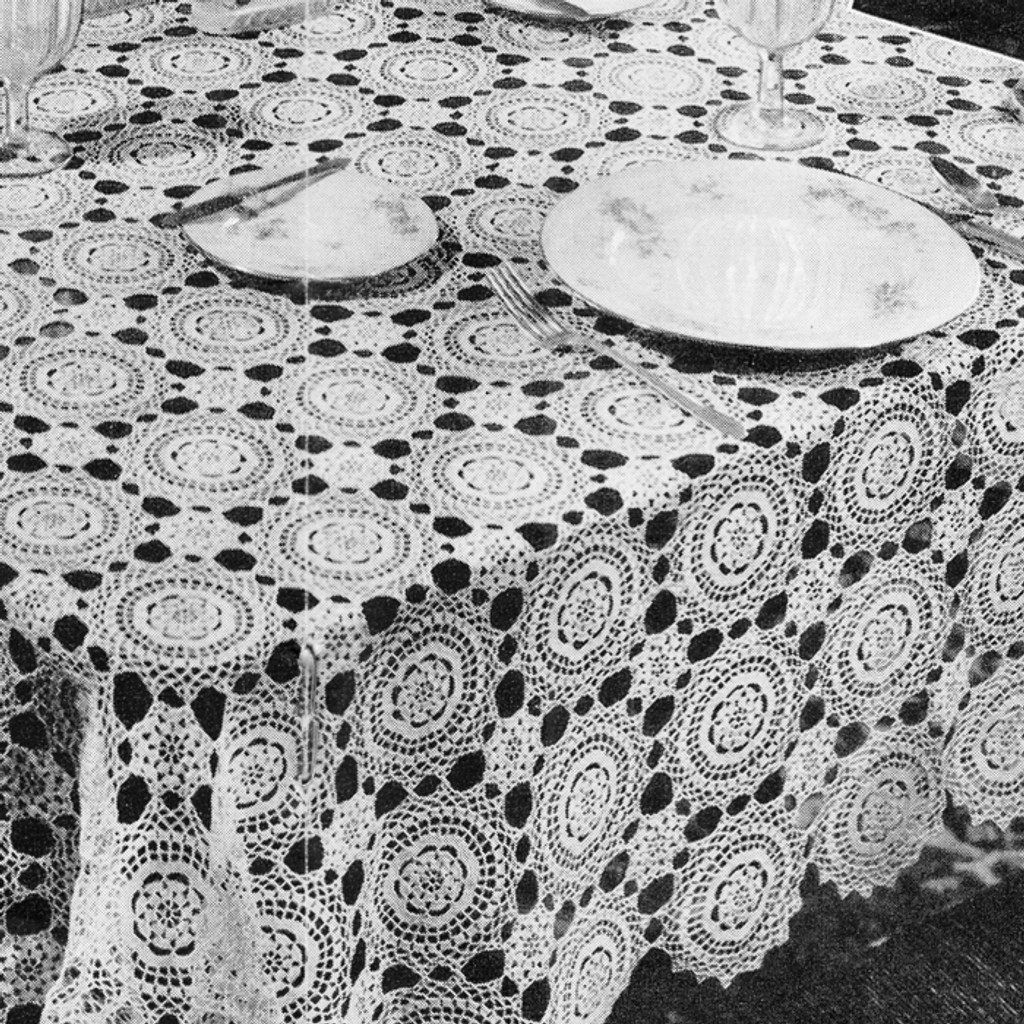 Large Round Medallion Tablecloth Pattern
