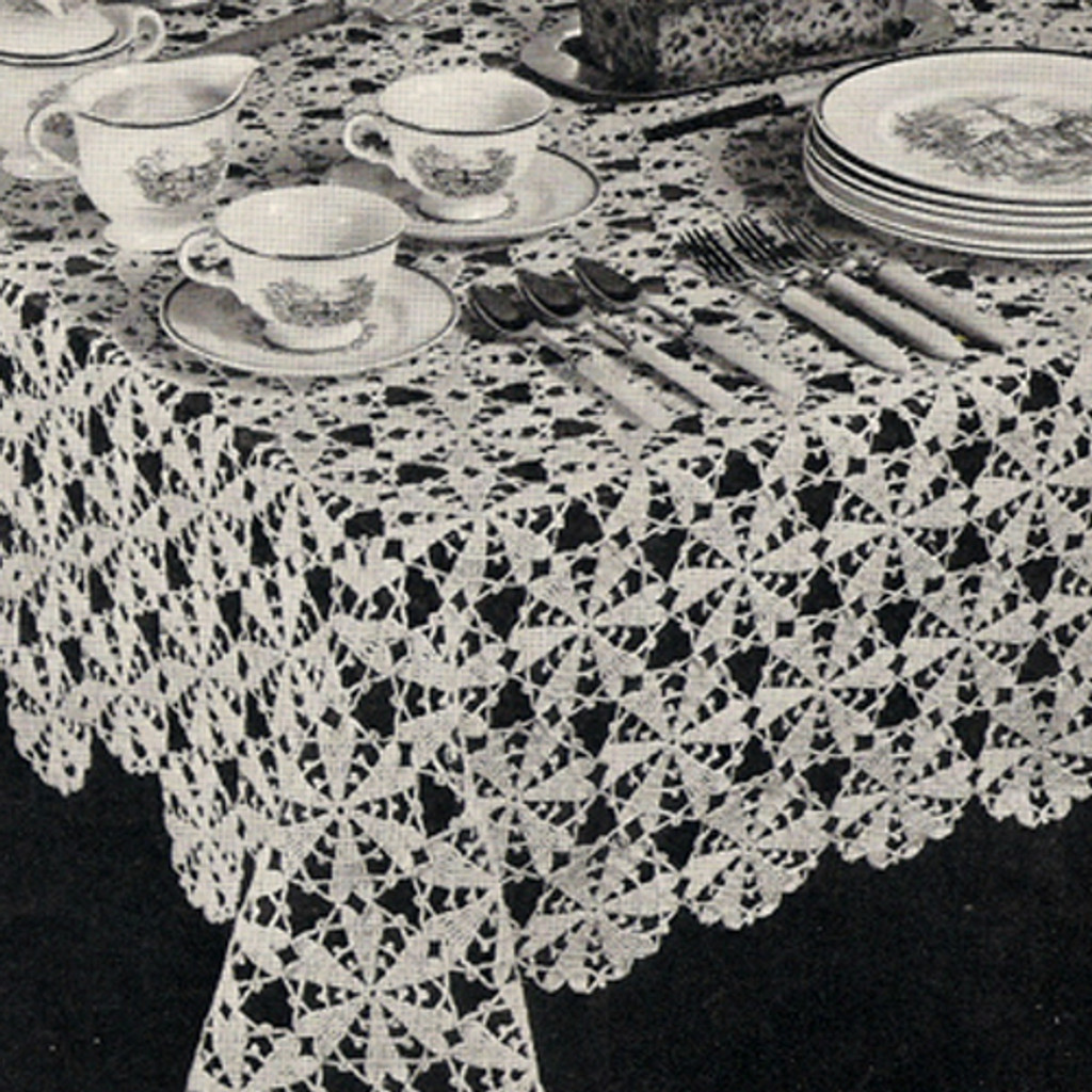 Crochet Martha Washington Crochet Tablecloth pattern