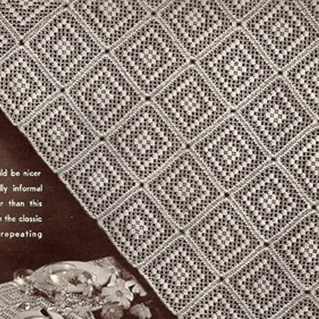 Crocheted Cambridge Square Pattern