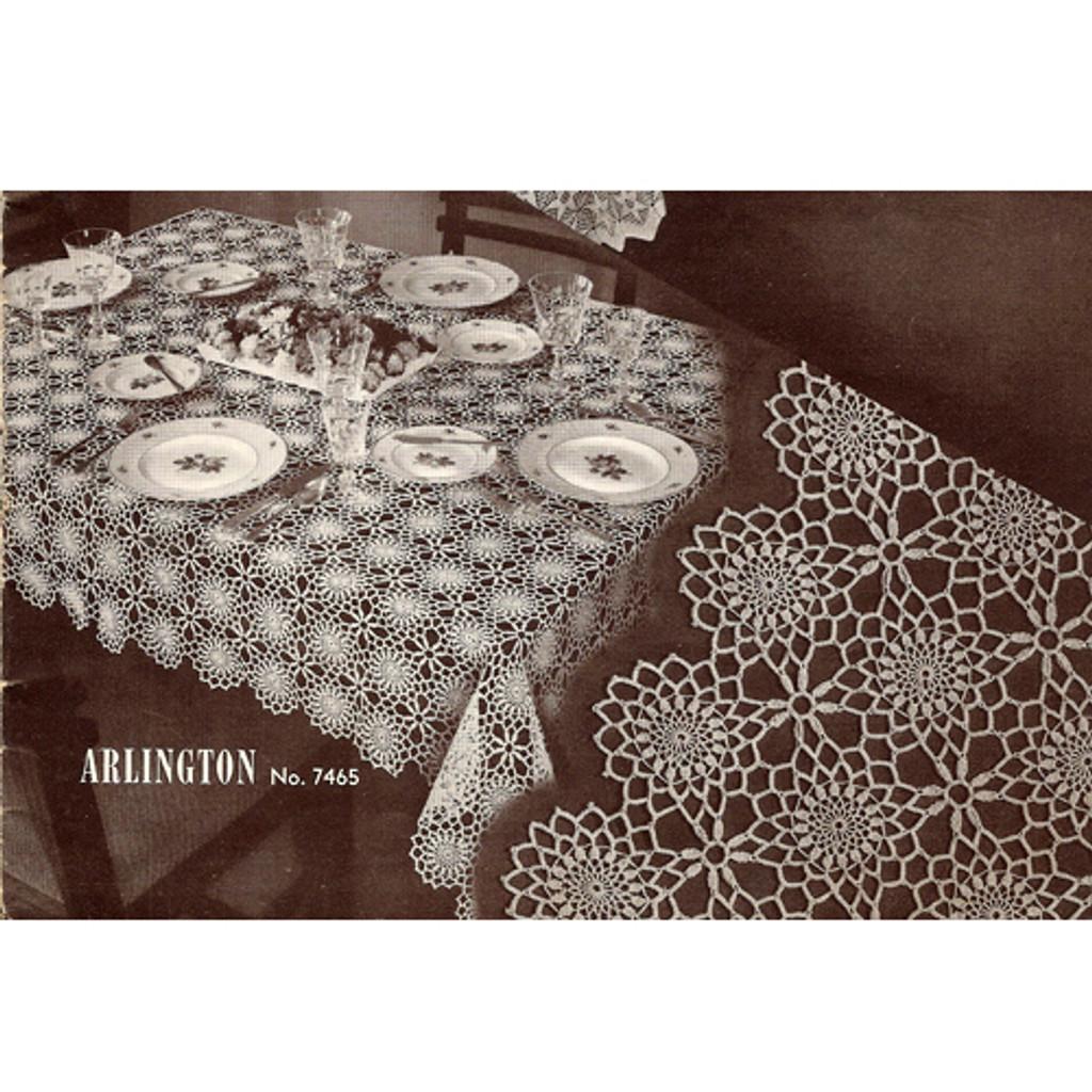 Vintage Arlington Crochet Tablecloth pattern