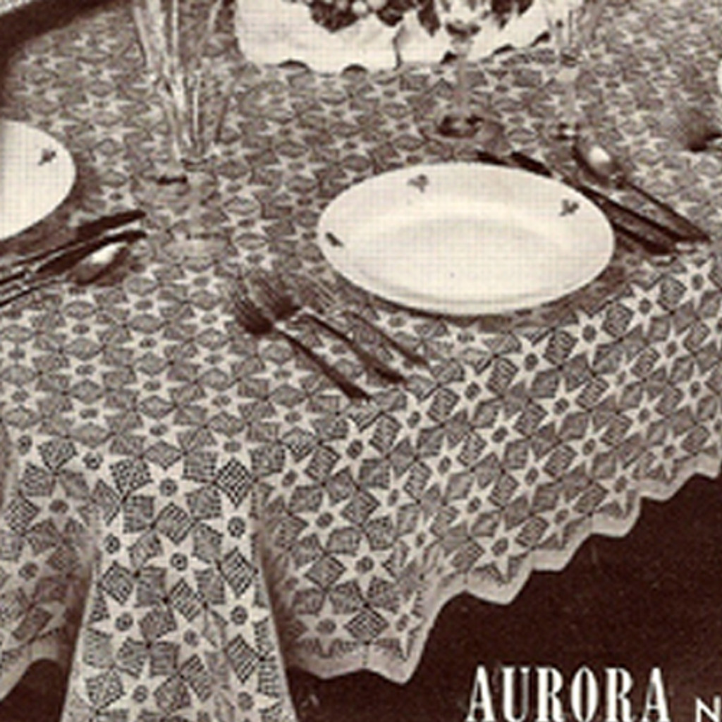 Crocheted Aurora Star Medallion Tablecloth Square