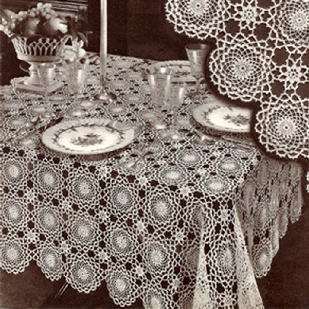 Crochet Tablecloth, Winthrup Medallion Pattern