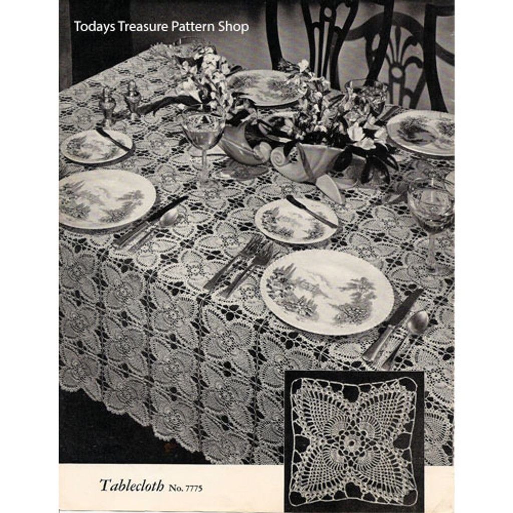 Vintage Pineapple Crochet Tablecloth Pattern