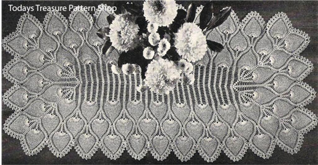 Crochet Pineapple Runner Pattern