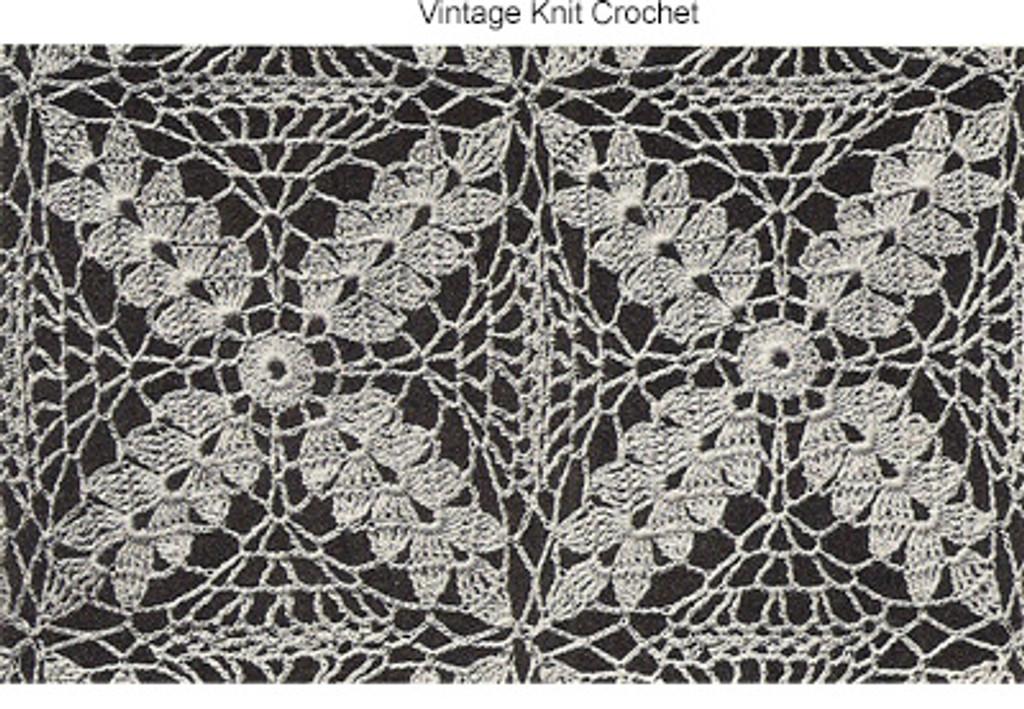 Wheat Motif Crochet Harvest Tablecloth PDF Pattern