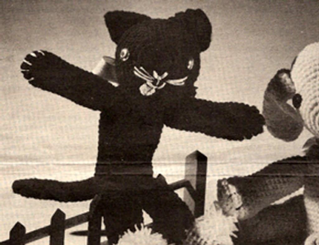 Crocheted Black Cat Pattern