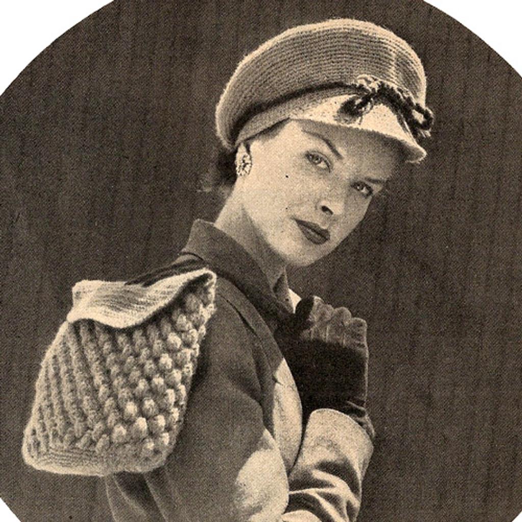 Vintage Crochet Newsboy Hat Pattern