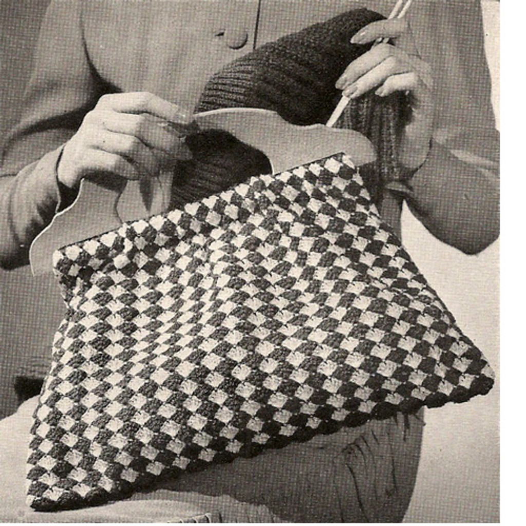 Crochet Checked Utility Bag Pattern