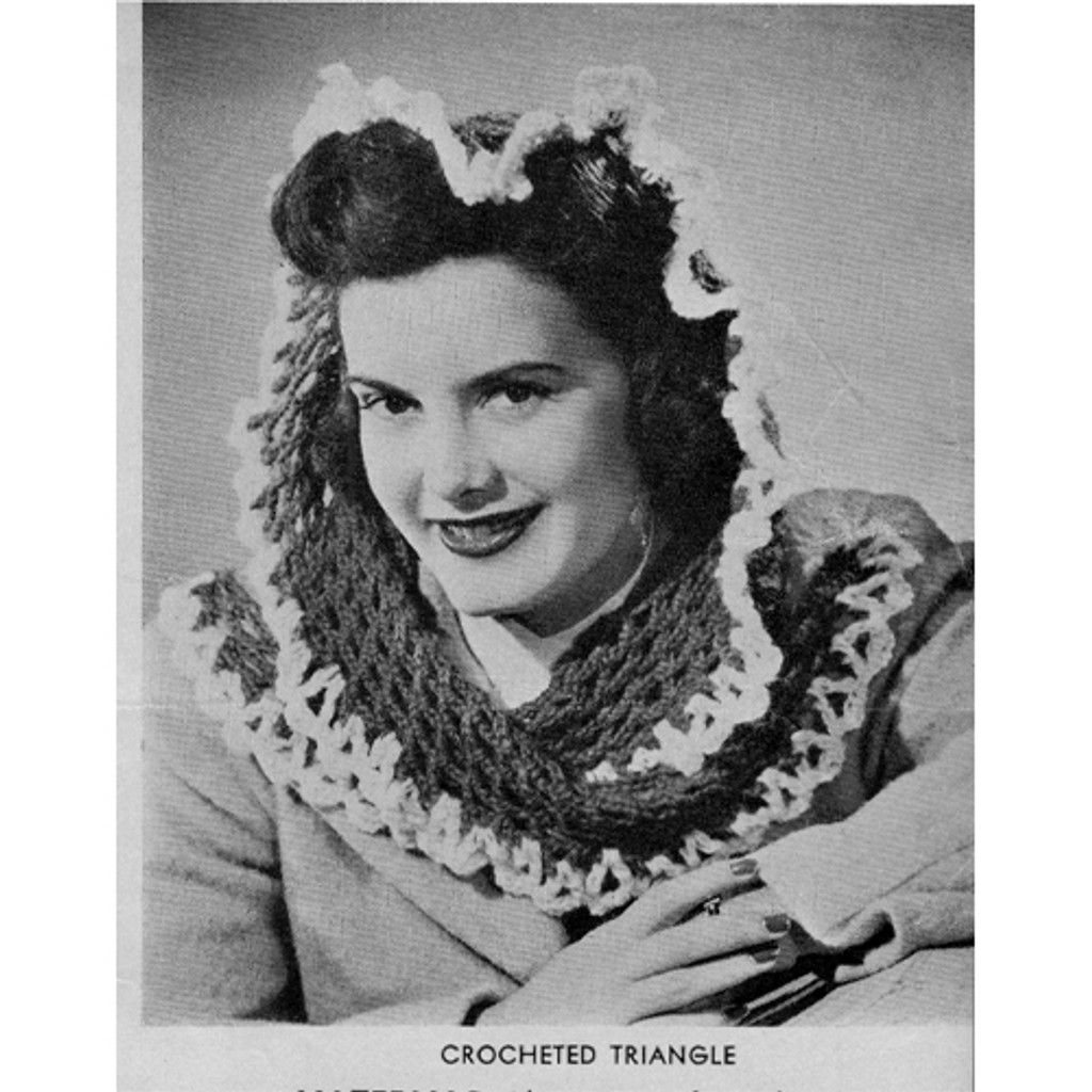 Vintage Fascinator Crochet Scarf Pattern