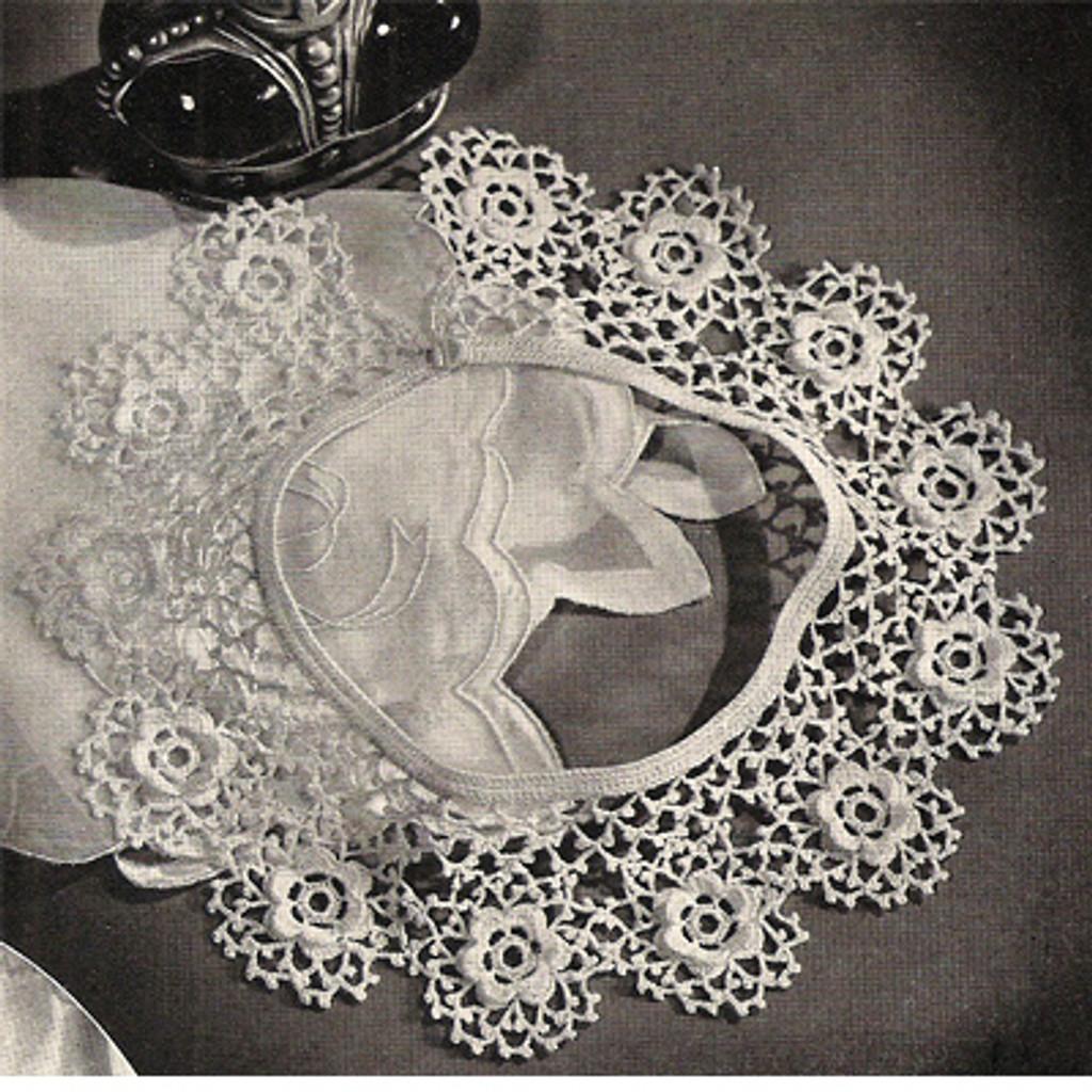 Round Rose Crochet Collar Pattern