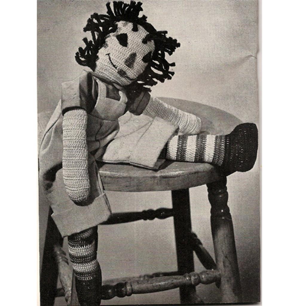 Large Crochet Raggedy Anne Type Doll Pattern