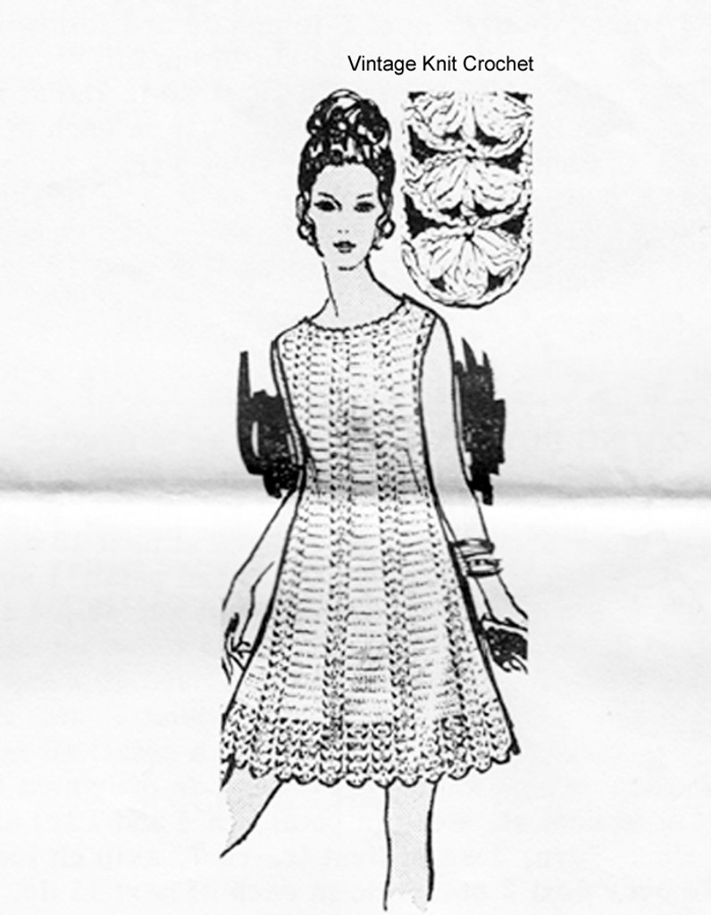 Petal Stitch Crochet Dress Pattern, Laura Wheeler 839