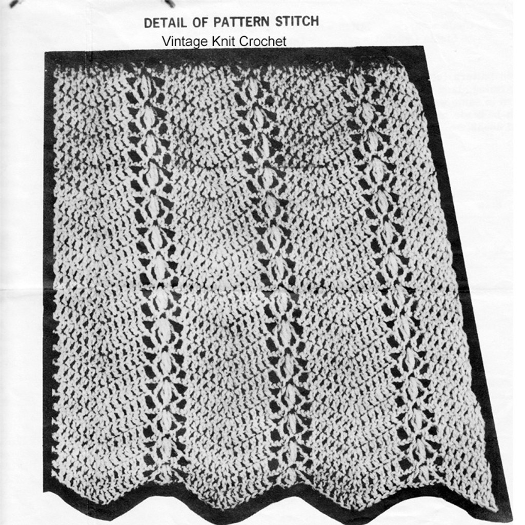 Crocheted Dress Pattern Stitch Detail, Laura Wheeler 736
