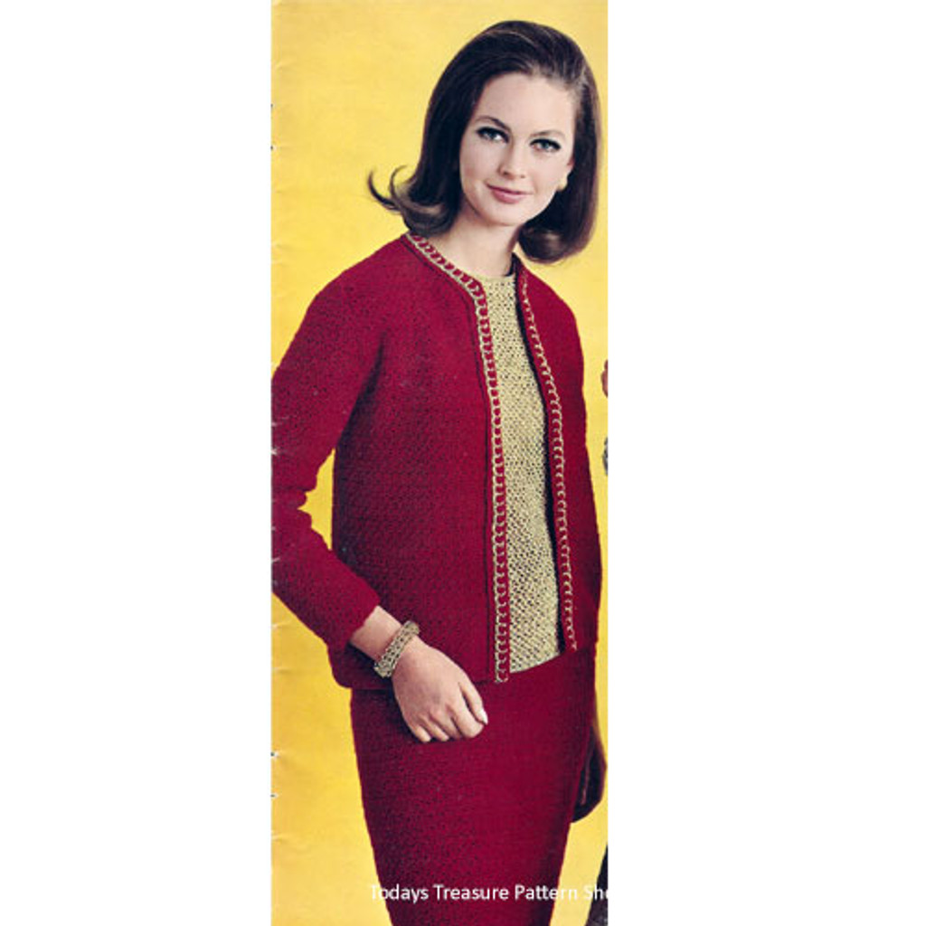 Vintage Columbia Minerva Three Piece Crochet Suit Pattern