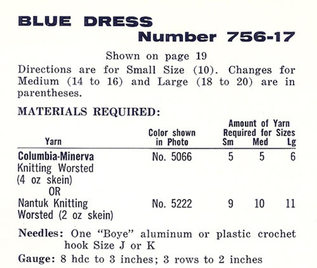 Blue Crochet Dress Material requirements