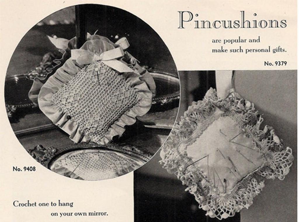 Free Crochet Pattern for Ruffled Pincushions