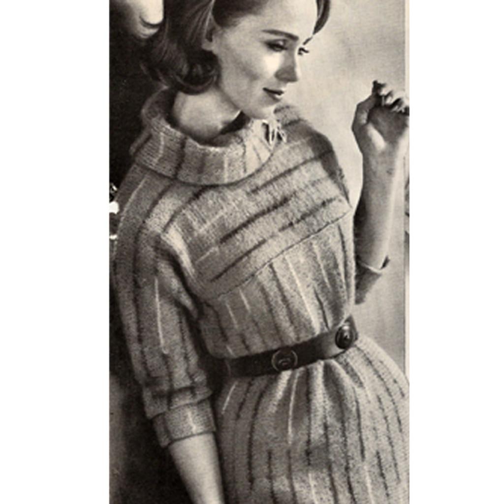 Cowl Neck Dress Knitting Pattern