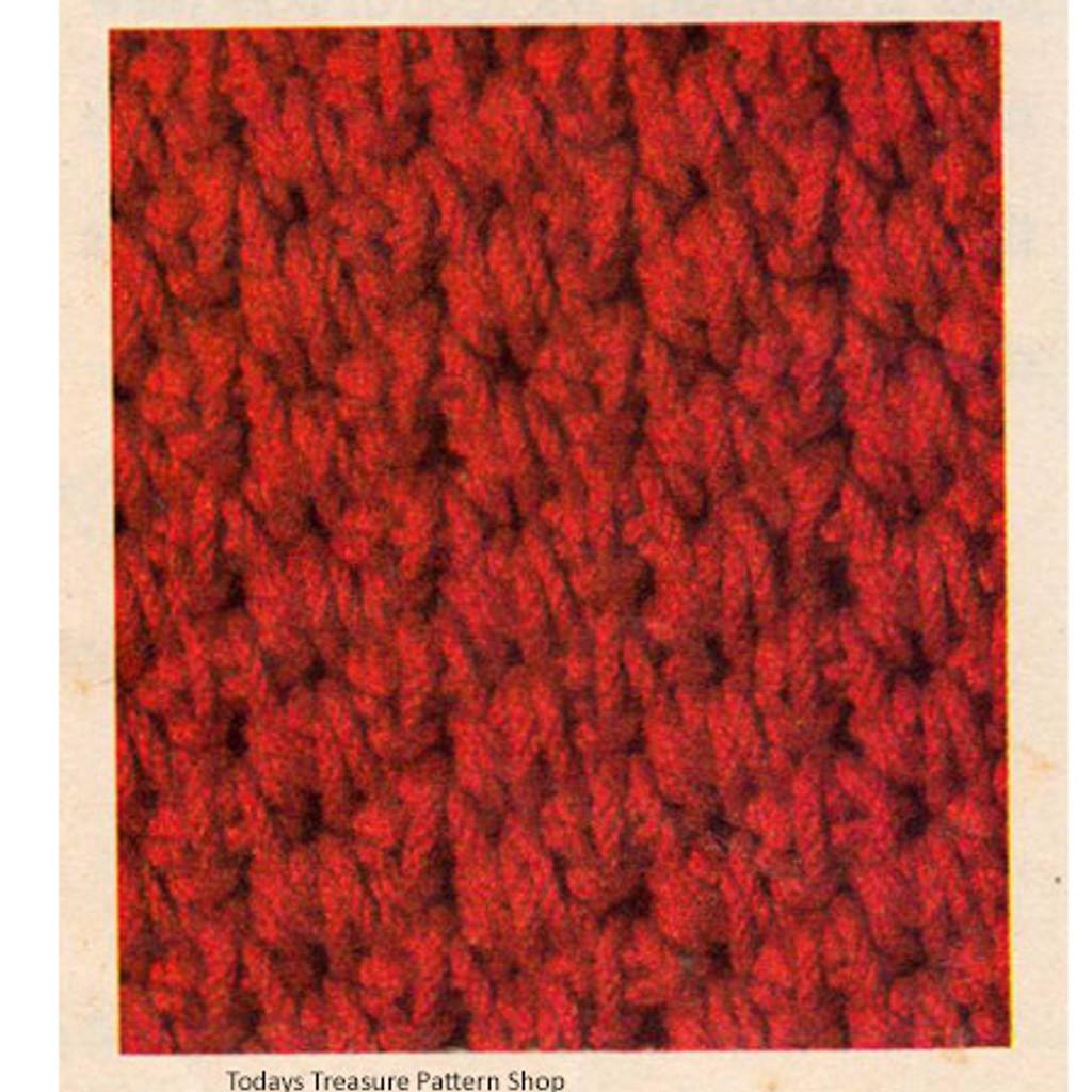 Crochet Hat Pattern Stitch Illustration