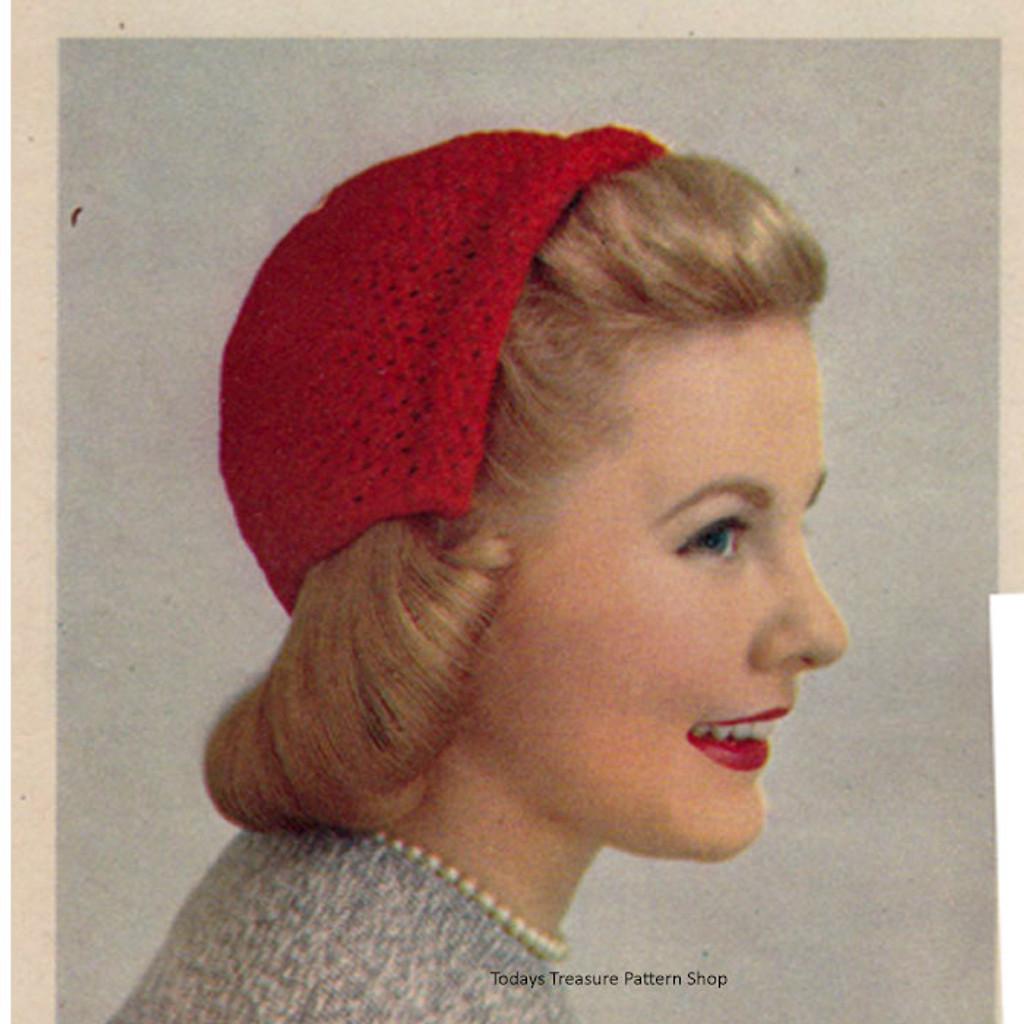 Vintage Crochet Half-Hat Pattern
