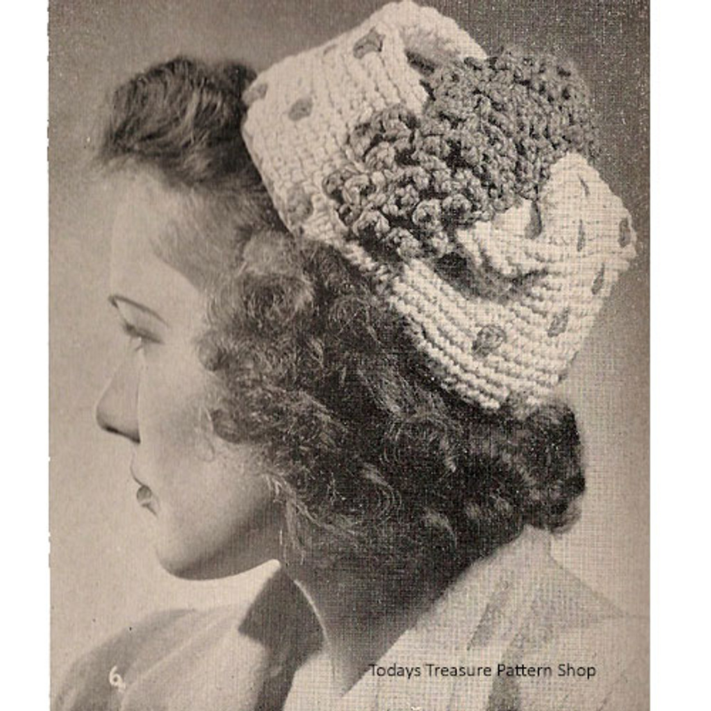 Polka Dot Pillbox Hat Crochet Pattern