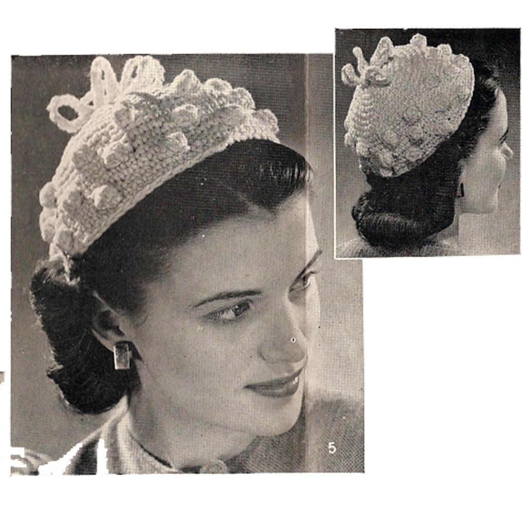 Beanie Hat with Crochet Popcorns Pattern