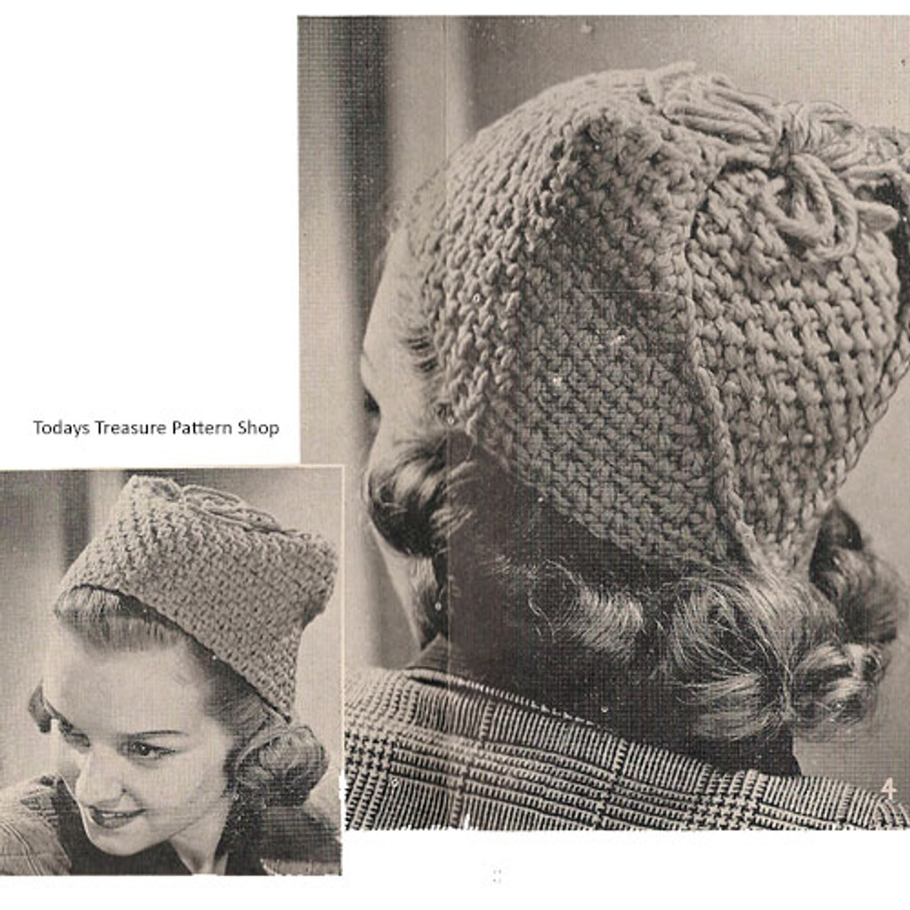 Vintage 1940s Toque Hat Pattern