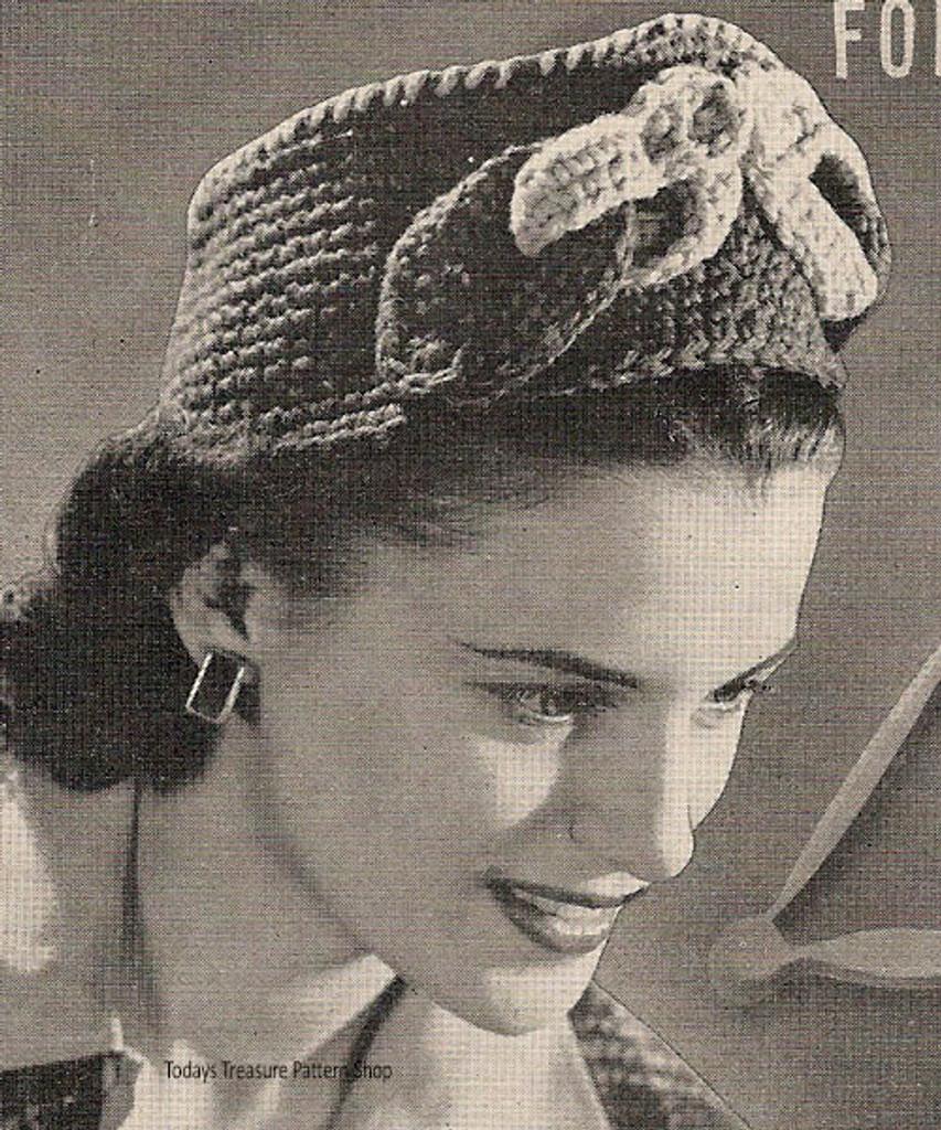 Crochet Ribbon Tied Pillbox Pattern