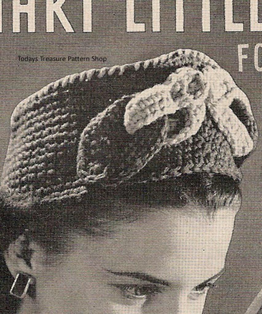 Ribbon Pillbox Crochet hat Pattern