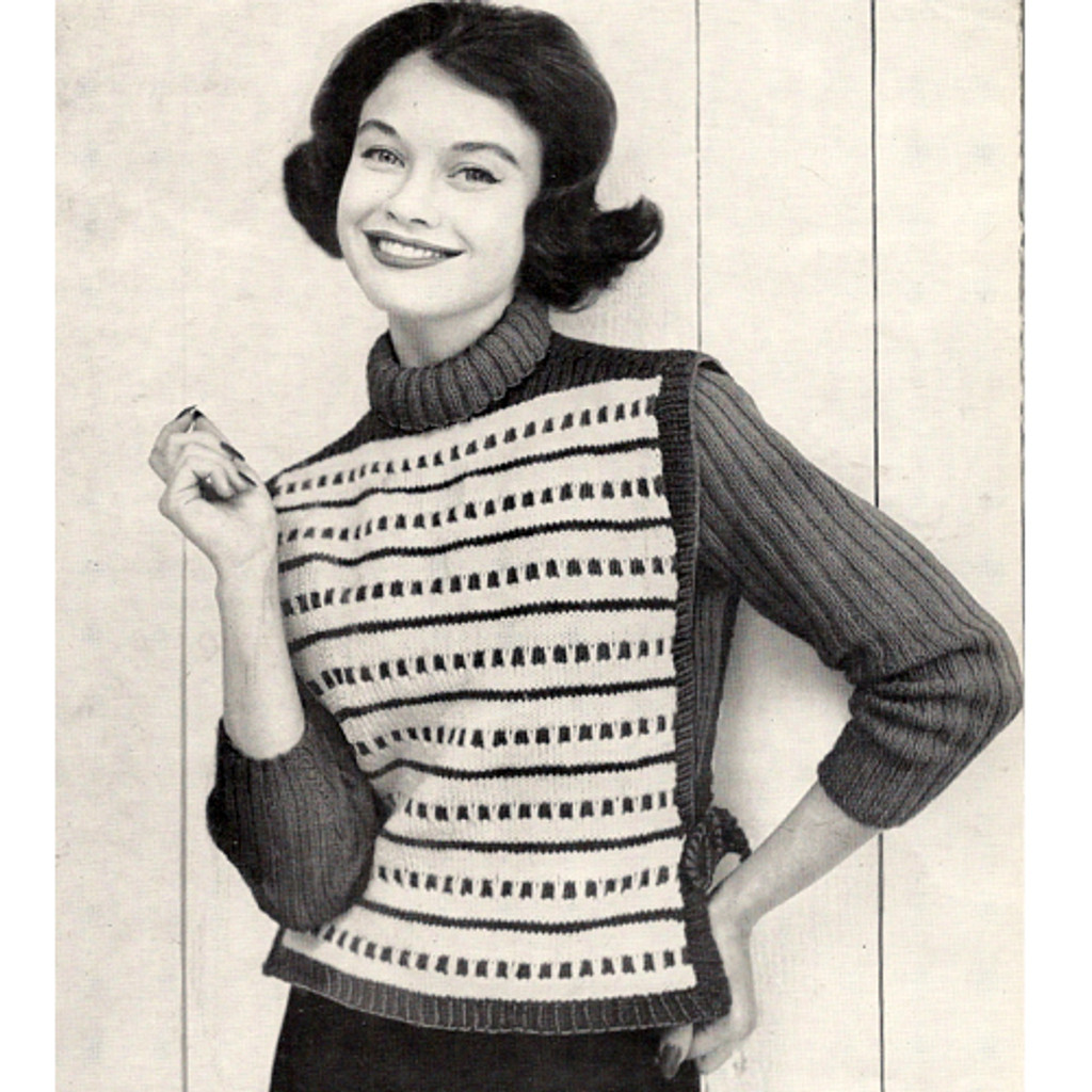 Knitted Pullover Pattern with Tabbard