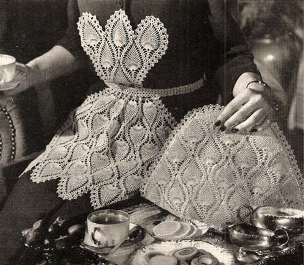 Pineapple Crochet Tea Cozy Pattern, Vintage 1950s