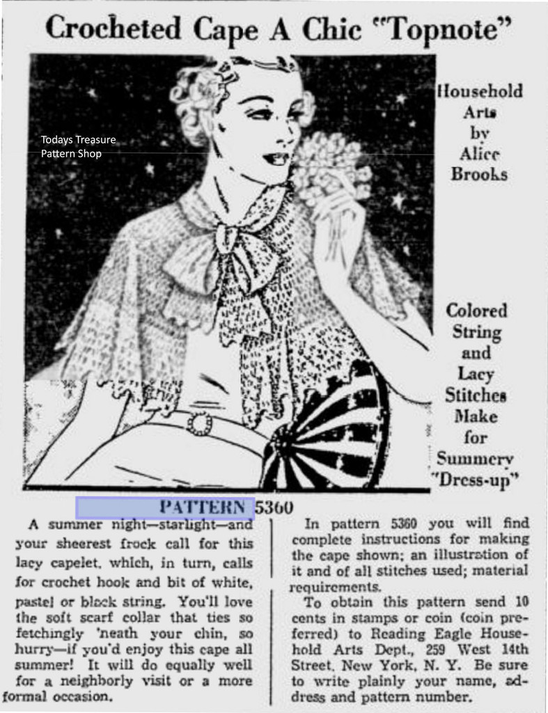 Alice Brooks 5360 Newspaper Clipping