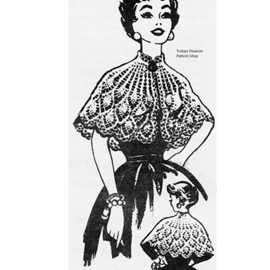 Crocheted Pineapple Cape Pattern Design 617