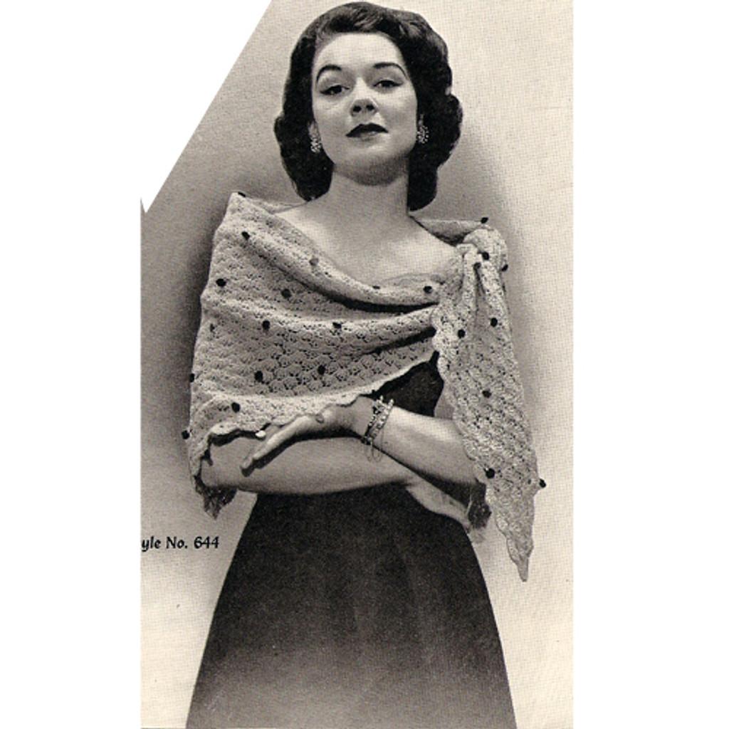Triangle Stole Crochet Pattern
