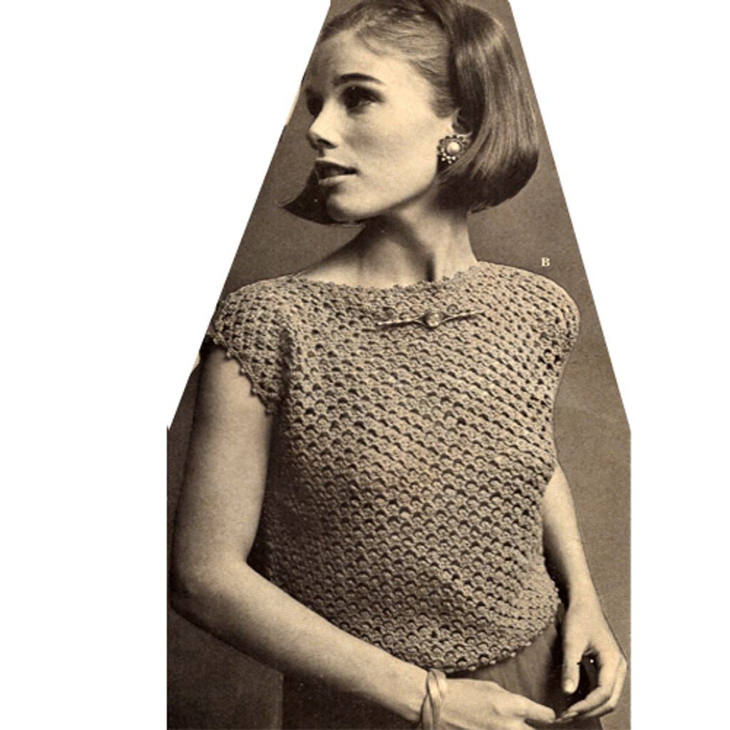 Easy Crochet Sleeveless Blouse Pattern
