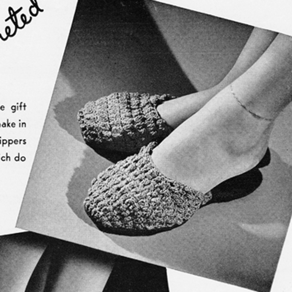 Easy crochet scuffs pattern from Vintage Knit Crochet pattern shop