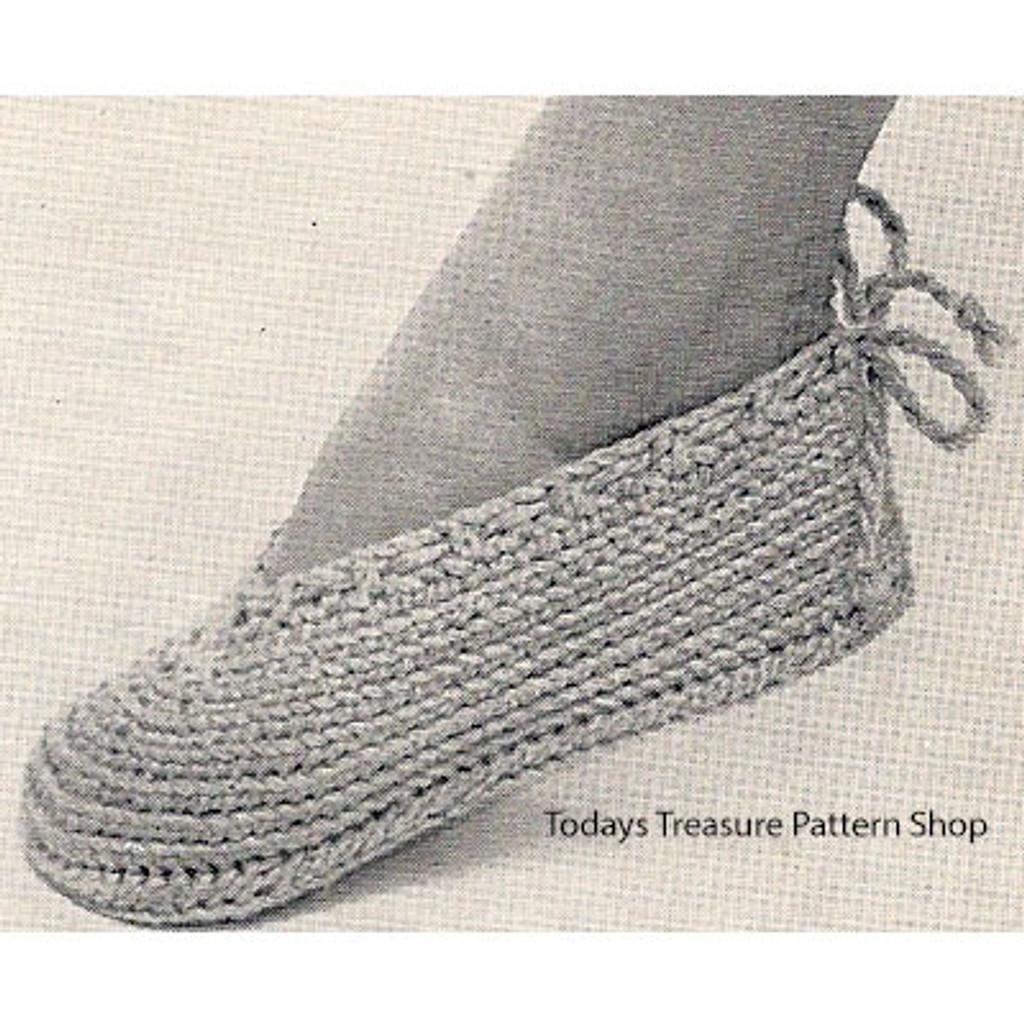 Beginners Crochet Slippers Pattern