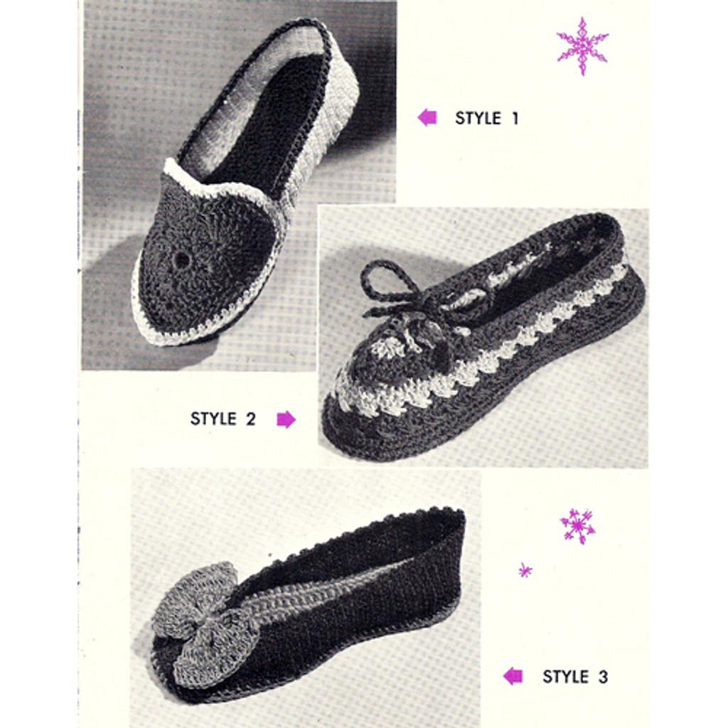 Misses Crochet Slippers Pattern