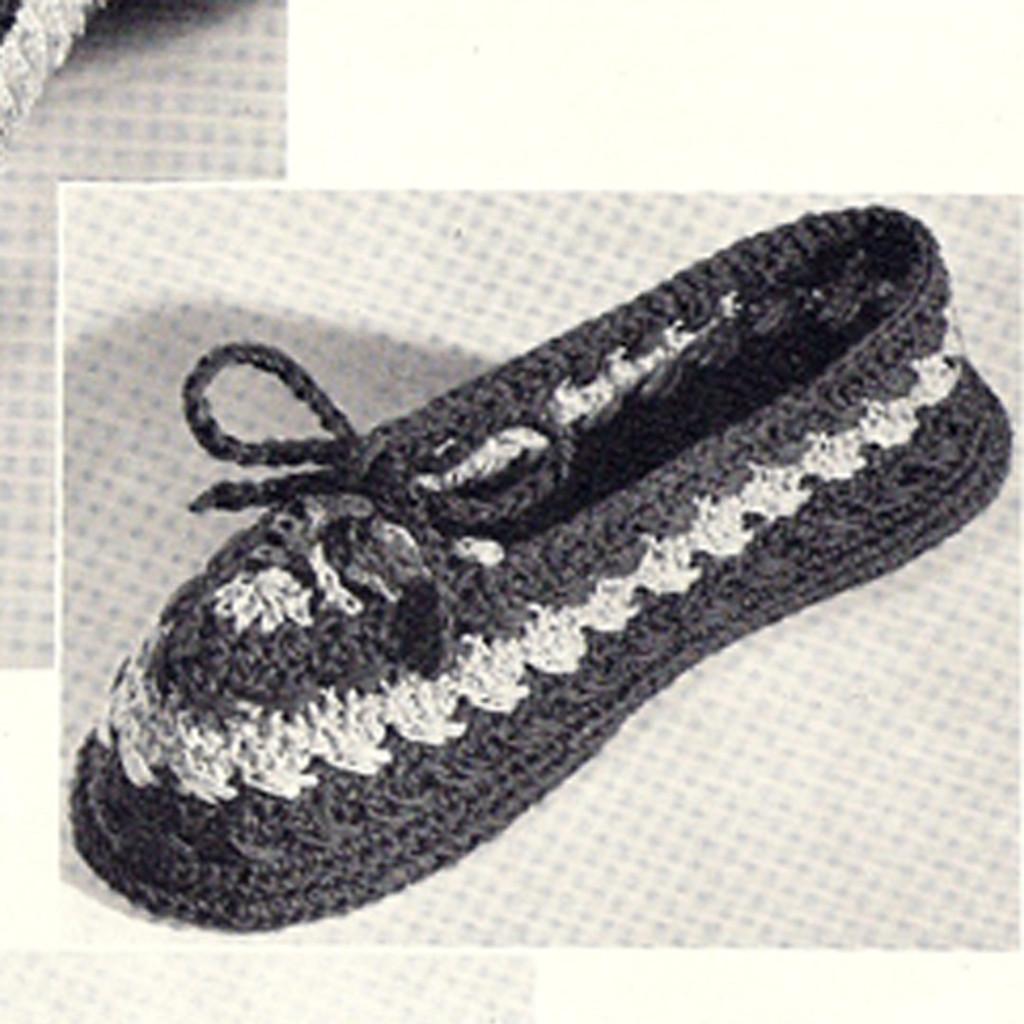 Crochet tied slippers pattern