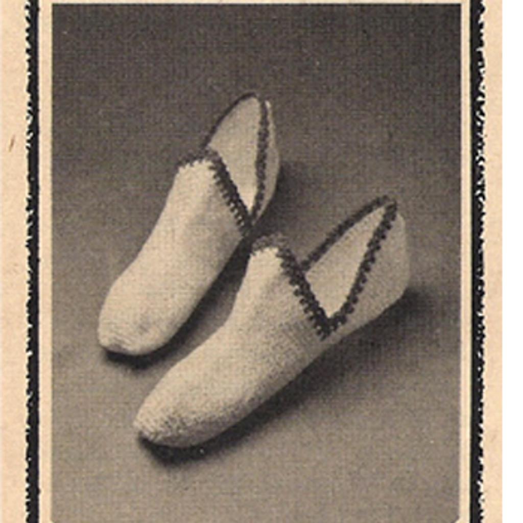 Vintage Crochet Pattern Dutch Slippers