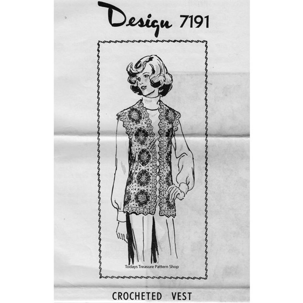 Mail Order Design 7191, Crochet Flower Vest