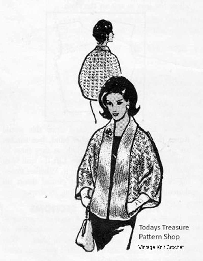 Mail Order Cape Knitting Pattern, Laura Wheeler 611