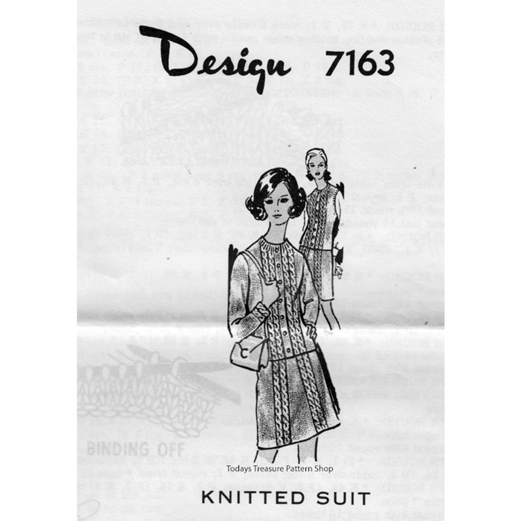 Mail Order Design 7163, Suit Knitting Pattern